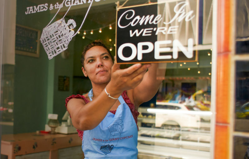 """Resilient small business owners inspire artists to reimagine the """"Open"""" sign"""