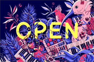 """<p>Artists create """"Open"""" signs to celebrate women and diverse-owned small businesses who persevered during the pandemic</p>"""